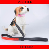 PLTR-16A reflective led dog leash new pet dog products led reflective quick release dog leash