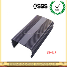 aluminum extrusion enclosures for LED driver 124*70mm(W*H)/aluminum extruded heat sink enclosure factory in China