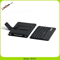 New Style Air Bluetooth Keyboard Leather Case With Usb Port For iPad Mini BK337