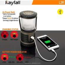USB rechargeable durable waterproof camping lantern led camping gear