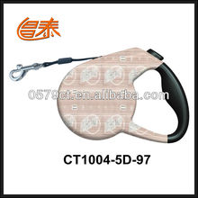 One-hand controls for easy braking extendable dog leash