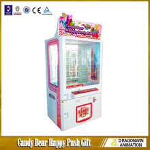 Candy Bear Happy Push Gift toy catching game claw crane machine