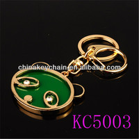 fashion metal high quality keychain making supplies for gift for present