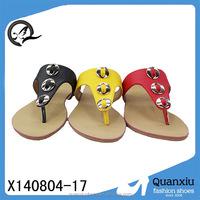 summer season flat hot sale slide shoes fashion lady shoe