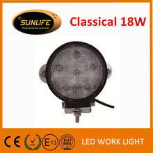 Factory directly offer 18W led work lamp, LED working light with 2 years warranty