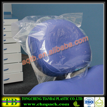 Clean clear headrest plastic cover for dental chair