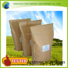 top quality natural plant extract dextrose anhydrous & dextrose anhydrate food grade