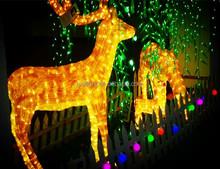 outdoor LED 3D reindeer light Christmas motif light