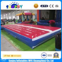 Pvc lona artículos campo de goma gimnasio piso colchoneta inflable