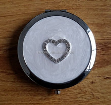 ivory enamel professional makeup mirror with heart decor