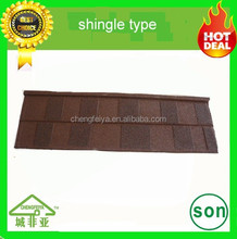 roofing material italian natural color Stone coated steel roofing tile