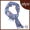 2015 quality silk scarves exquisite blue-and-white rectanglar fashionable scarf