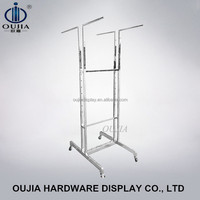 good quality clothes shop fitting moving pop display stand/trolley rack