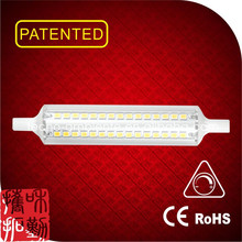 Tecno design linear glass dimmable led R7S 118mm led light pen