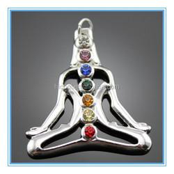 2015 Trendy Crazy selling wholesale seven stones colorful chakra pendants