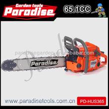 Pd-hus365 herramientas de jardinería 65.1cc motosierra/sierra cadena de aceite sierra de cadena para la venta