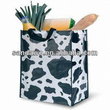 European Style Pretty Handmade printed nonwoven bag,nonwoven reusable bag,grocery bag