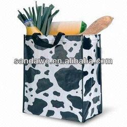 European Style Pretty Handmade printed nonwoven bag,nonwoven reusable bag,grocery bag