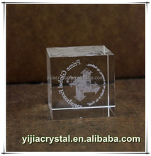 Super Clear Crystal Ice Cube with Customized Logo Inside for Comapny Gifts