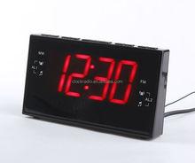 Large LED Display Home Digital PLL Alarm Clock Radio AM/FM Two Bands Radio Receiver