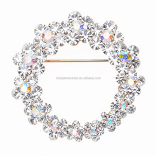 2015 Top seller brooch jewelry type good quality crystal rhinestone initial brooch with pin