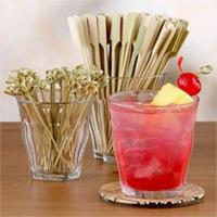 natural flat bamboo friut stick
