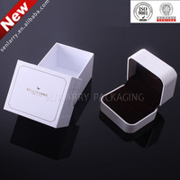 Promotional plastic jewellery boxes china with flocking insert certificated by ISO,SGS,BV