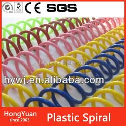 2015 Fashion Custom top quality plastic binder ring , spiral notebooks plastic binding