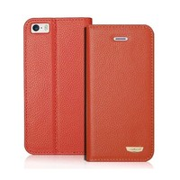 Luxury Real Leather Bling Wallet Case For iPhone 5,For iPhone5 Case