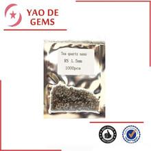 popular sale 1.5mm round cut loose tea quartz crystal nano in stock