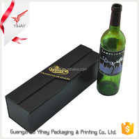 Top quality products handmade single bottle luxury leather empty cardboard paper wine packaging box wine box