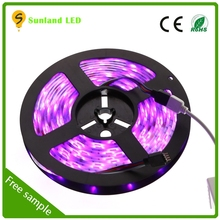 30leds/M 7.2W/M 5050SMD high brightness flexible black pcb smd led strip with CE and RoHS