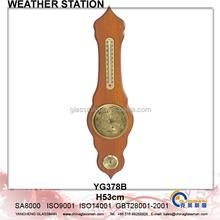 Wooden Weather Station Barometer Decor YG378B