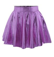2015 New Fashion pure color pleated skirts women pink short mini skirt