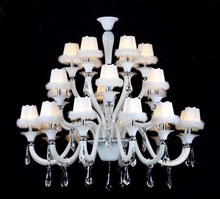 hall decoration modern big white light white chandeliers
