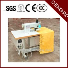 manual non woven bag making machine with online handle attach