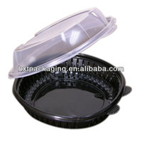Plastic clamshell blister tray for clamshell package