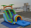 top grade CE certificated inflatable slides, inflatable fun slide with pool for sale