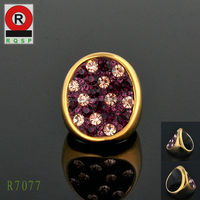 Wholesale Price Pretty O Rings Purple Diamond Rings Engagement Rings