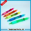 Promoção caneta esferográfica com marcador, caneta marca-texto multi colorido