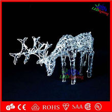 H:1.7m W:1.2m L:0.6m led Christmas reindeer 3d sika deer sets galvanized and pvc coated metal garden arch