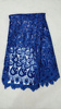 latest fashion royal blue cupion Lace/cord lace fabric LA50301-1