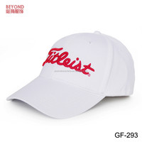 100% cotton embroidery branded golf hat 6-panel baseball cap