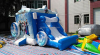 2015 cheap infatable bouncer with slide//commercial inflatable bouncer frozen for sale/ frozen inflatable combo bouncer