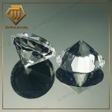 wholesale gemstone china perfect round cutting white corundum mineral