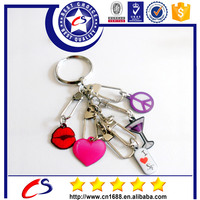 Cheap carabiner heart metal keychain wholesale