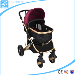 Folding good grade material foldable and upstanding infant stroller