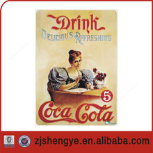 Outdoor Embossed vintage metal tin sign