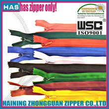 All size any length any color Nylon Coil zippers for retail or wholesale for shoe zipper zippers for bags