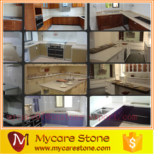 hot selling crystal white artificial quarz stone kitchen island top